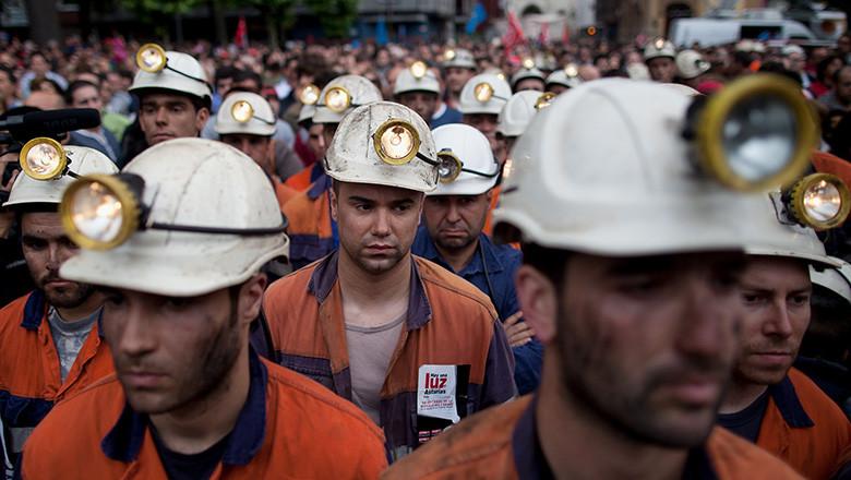 General Strike Hits Mining Regions In Spain